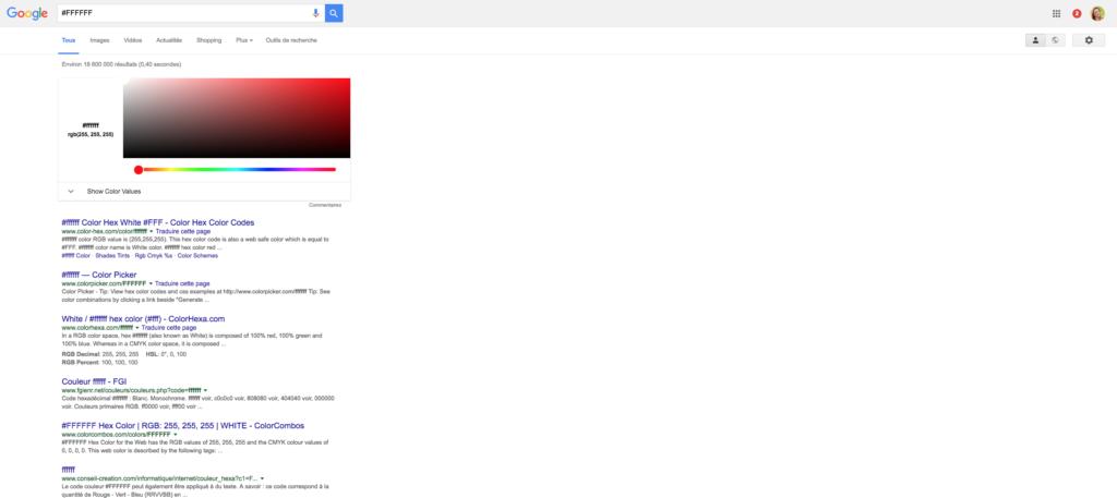 Couleurs google