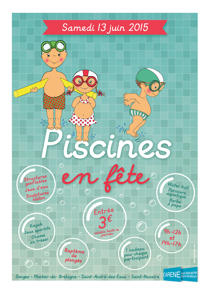 Illustration piscines en fête CARENE